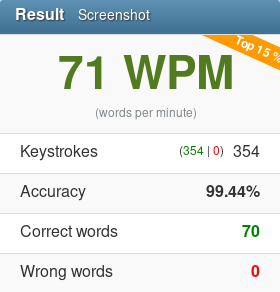 71 wpm 2019 10 08 typing competition 10fastfingers com