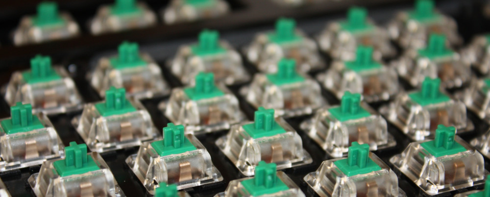 gateron green switches gemonteerd op pbc