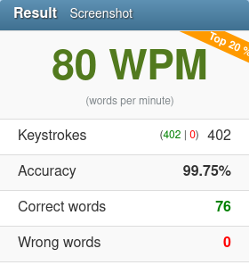 80wpm 2020 04 08 typing test english 10fastfingers com