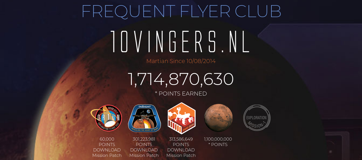mars frequent flyer club