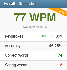 week 51 77 words per minute