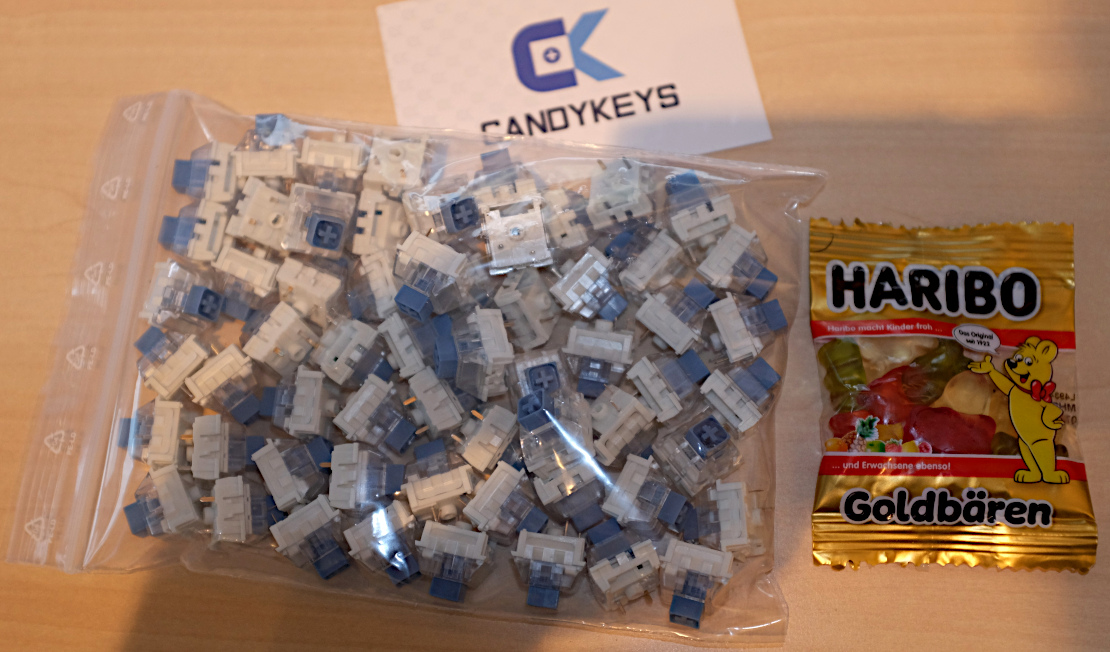 Kailh Box Pale Blue switches van Candykeys